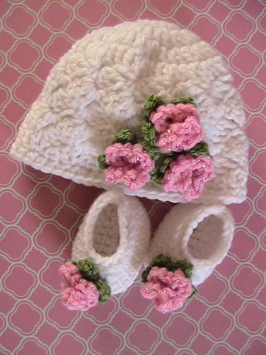 """18"""" Doll  - Hat & Shoes - Hand Crocheted"""