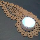 Crocheted Natural Ecru Moonglow PAISLEY - Great Gift
