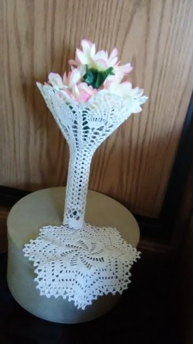Bridal Pineapple Bouquet Cover - Crocheted