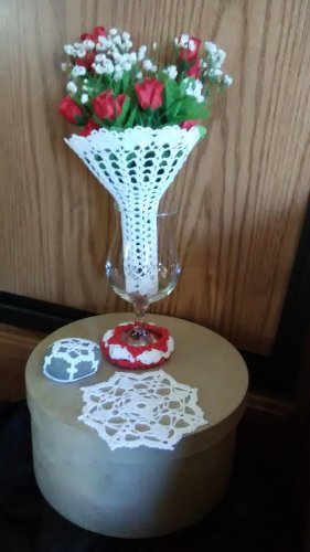 Bridal Bouquet Cover - Crocheted