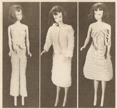 Crochet - Barbie Doll Wardrobe (ref: e1280c)