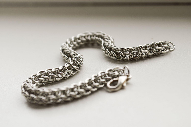 Men bracelet, Unisex bracelet, Chainmaille bracelet