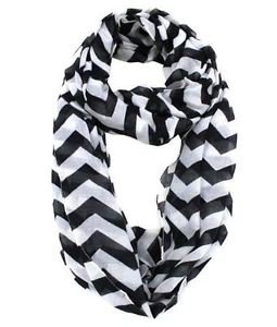 Modadorn Accessories Nautical Lightweight Chevron Infinity Scarf