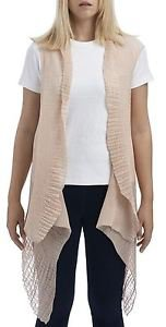 Pleated Chiffon Scarf Vest (2-in-1 Style)