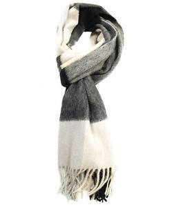 Multi-Colored Cashmere Wool Blend Flannel Scarf