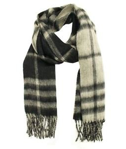 Plaid & Check Wool Scarf