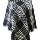 Gingham Plaid Check Pattern Poncho