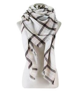 Soft Plaid Blanket Scarf