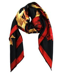 Luxurious 100% Silk Autumnal Scarf