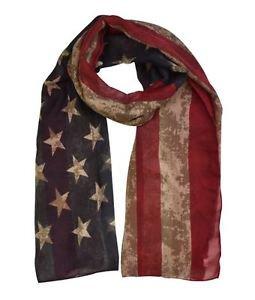 Vintage American Flag Print Scarf