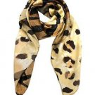 Luxurious Silk Abstract Animal Print Scarf