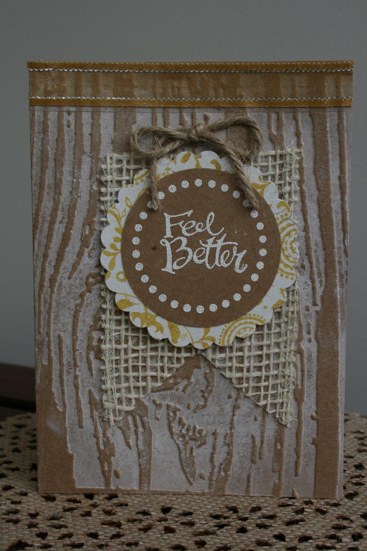 Feel Better Handmade Card