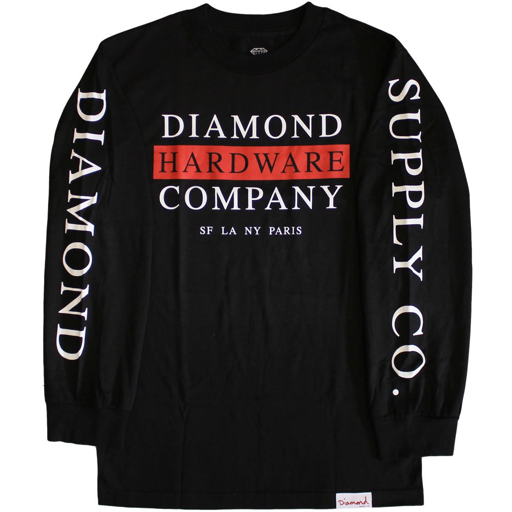 Diamond Supply Co Hardware Stack Long Sleeve T-shirt Black