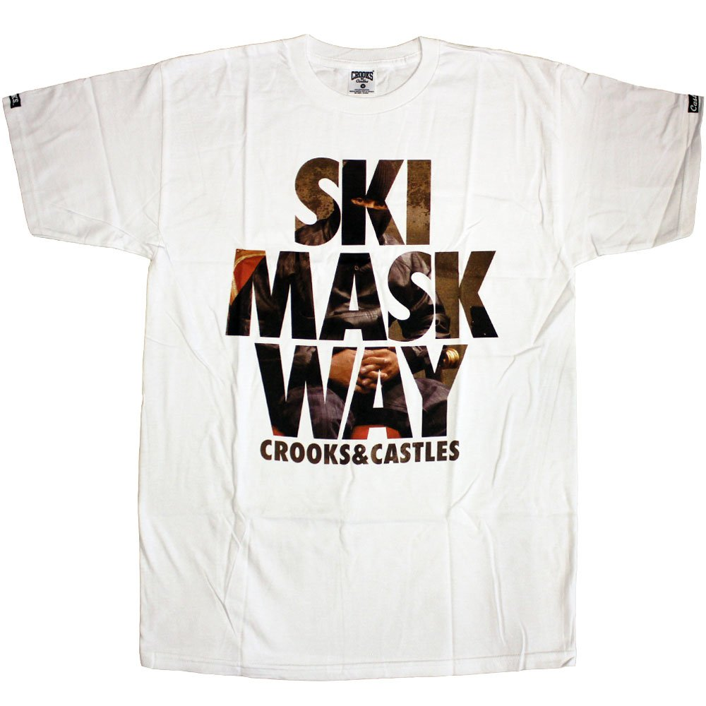 Crooks & Castles Ski Mask T-Shirt White