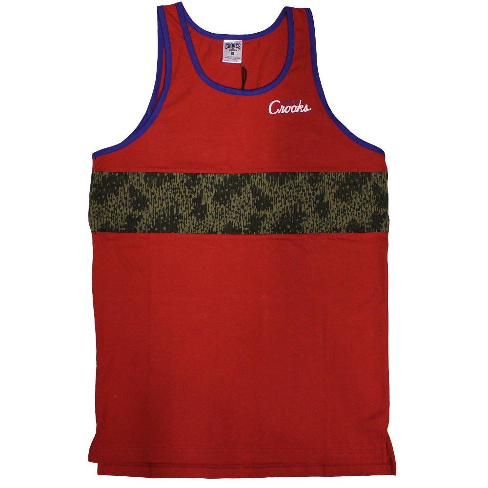 Crooks & Castles Jungle Fever Tank Top True Red Rain Camo