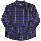 Dickies Button Front Flannel L/S Shirt Deep Blue / Black
