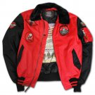 Top Gun MA 1 Color Block Bomber Jacket with Fur and Patches
