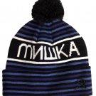 Mishka Heatseeker pom beanie hat blue