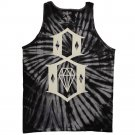 Rebel8 Logo Tie Dye Tank Top Black