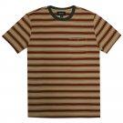 Brixton Fraction Pocket T-Shirt Burgundy