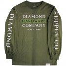 Diamond Supply Co Hardware Stack Long Sleeve T-shirt Military Green