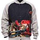 Crooks & Castles Corrupt Baseball Jacket Speckle Grey