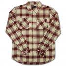 Diamond Supply Co Radiant Plaid Flannel Shirt Burgundy