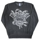 Crooks & Castles Olmec Medusa Sweatshirt Heather Charcoal