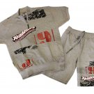 Akademiks Shorts Set Grey