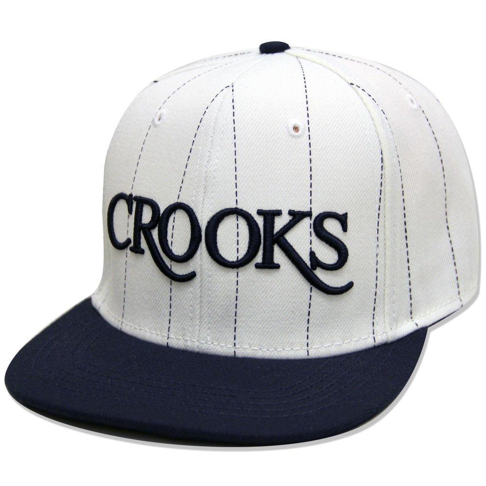 Crooks & Castles Serif Crooks Snapback White Navy