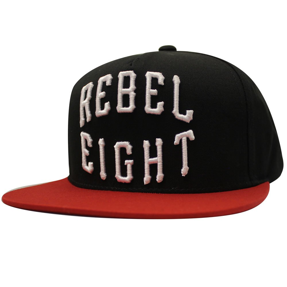 REBEL8 Rocker Snapback Black Red