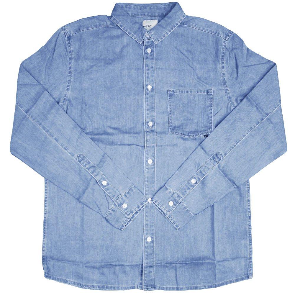WeSC Eric Comfort Fit Denim L/S Shirt Smooth
