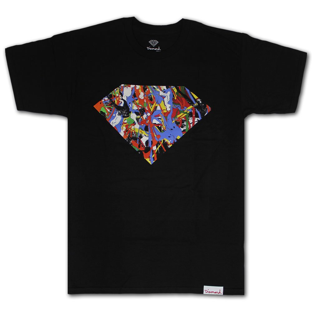 Diamond Supply Co Painted Diamond T-shirt Black