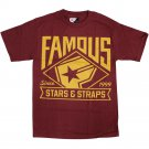 Famous Stars and Straps Boh Mlb T-shirt Burgundy Gold