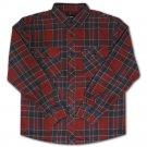 Brixton Bowery Flannel L/S Shirt Burgundy