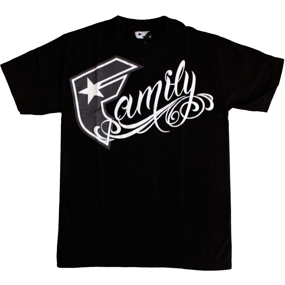 Famous Stars and Straps Boh Family T-shirt Black White