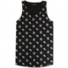 Pink Dolphin Waves All Over Tank Top Black