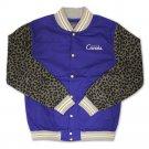 Crooks & Castles Graphic Stadium Jacket Cobalt