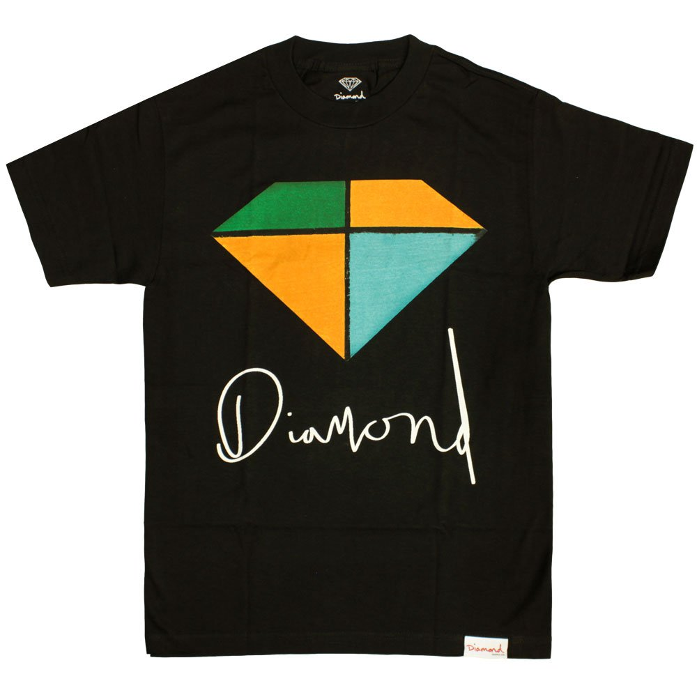 Diamond Supply Co Painted T-shirt Black