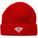 Diamond Supply Co Brilliant Fold Beanie Red