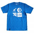 Lrg RC Logo Mash Up T-shirt Electric Blue