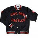 Crooks & Castles Sportsman Stadium Jacket True Navy