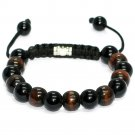 Wooden Beaded Shamballa Bracelet