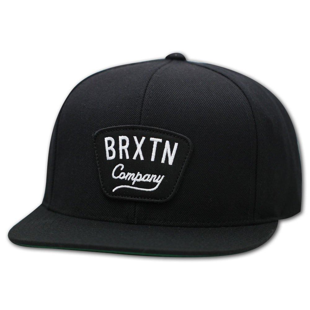 Brixton Gaston Snapback Cap Black White