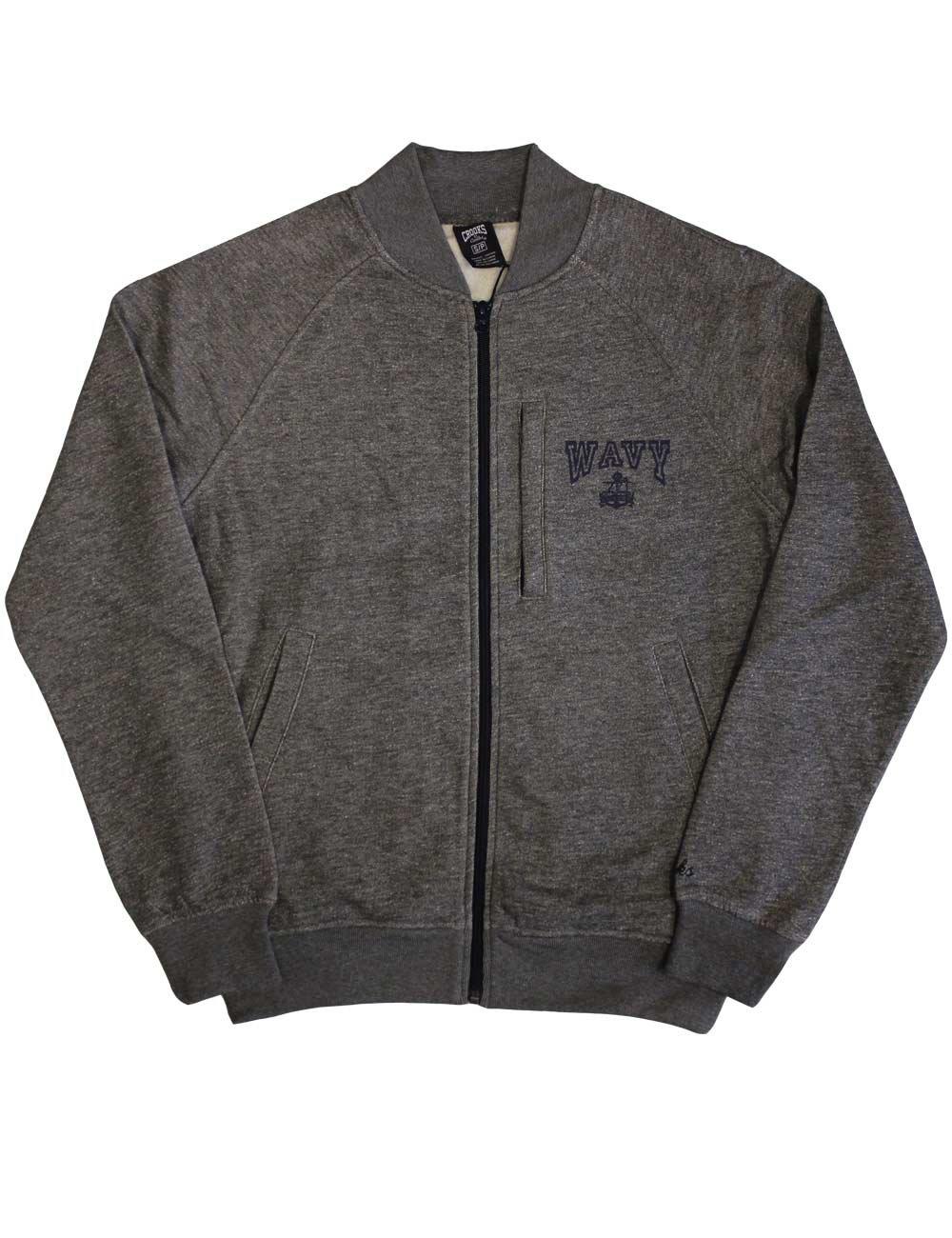 Crooks & Castles Wavy Zip Jacket Speckle Grey