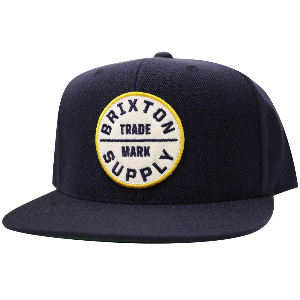 Brixton Oath III Snapback Cap Navy White
