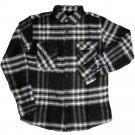 Brixton Bowery Flannel Shirt Grey Black