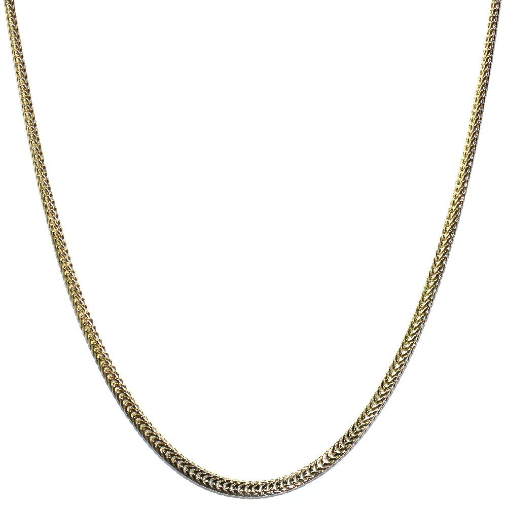 18 kt Gold plated Flat Franco Box Chain 2.4mm