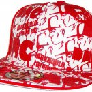 Dark n Cold All Over Print Baseball Cap White Red