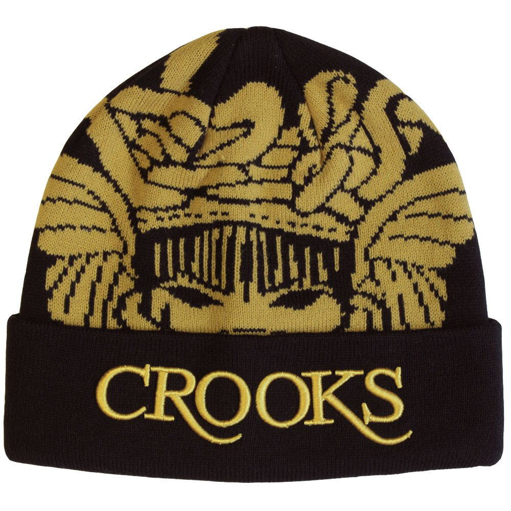 Crooks & Castles Medusa Serif Logo Beanie Black